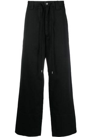 FACETASM Logo-patch wide-leg trousers