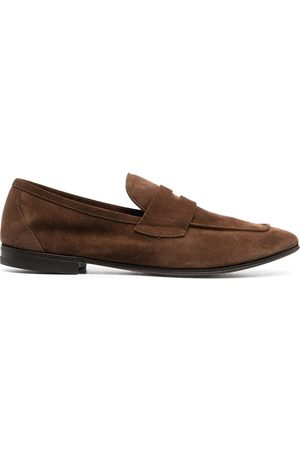 HENDERSON BARACCO Suede penny loafers