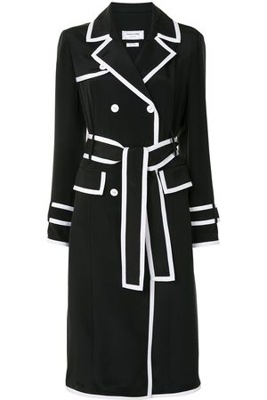Thom Browne Double-breasted silk coat - 415 Navy