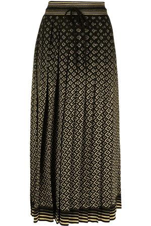 Gucci Intarsia-knit logo-pattern midi skirt