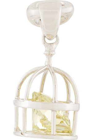 E.M. Caged crystal earring - Metallic