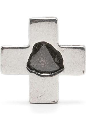 Parts of Four Plus-sign diamond stud single earring