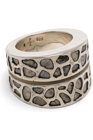 PARTS OF FOUR Diamond encrusted sterling ring