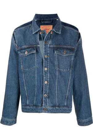 Y / PROJECT Peep Show cut-out denim jacket