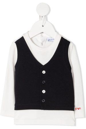 Emporio Armani Waistcoat-layered T-shirt