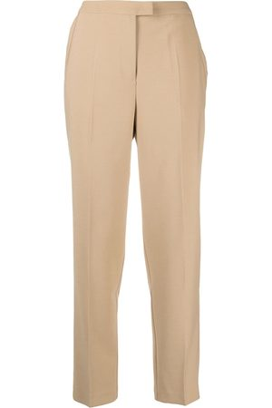 12 STOREEZ Pressed-crease tailored trousers - Neutrals