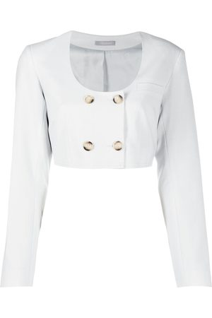 12 STOREEZ Cropped double-breasted blazer