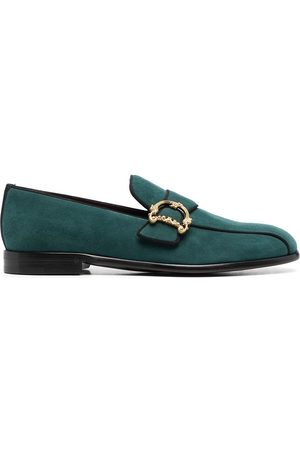 Dolce & Gabbana Baroque logo-plaque loafers
