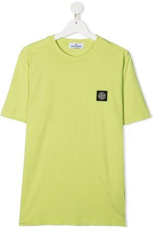 Stone Island Junior Short Sleeve - TEEN logo-patch T-shirt