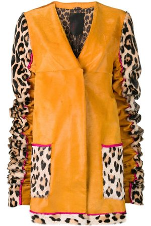 LISKA Animal printed sleeves coat