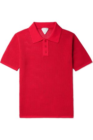 Bottega Veneta Slim-Fit Open-Knit Polo Shirt