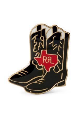 RRL Cowboy Boot Enamelled Badge