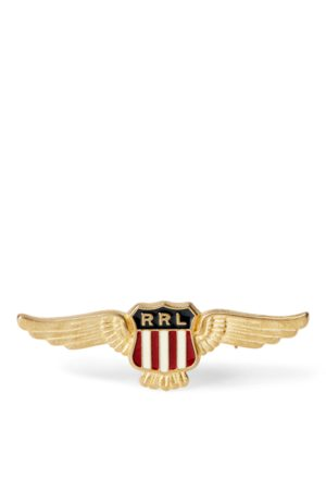 RRL Winged-Shield Enamelled Badge