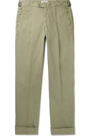 Saman Amel Pleated Stretch-Cotton Chinos