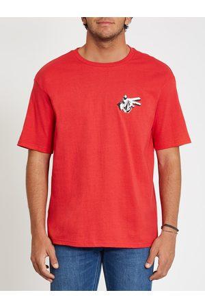 Volcom Men Short Sleeve - Men's Clatter T-shirt - Carmine