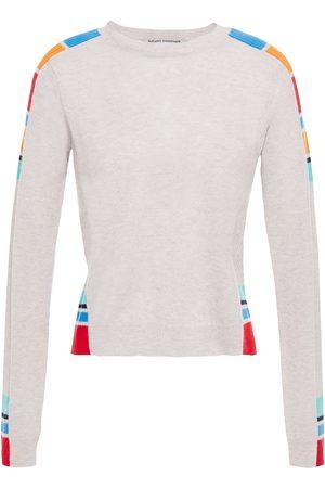 AUTUMN CASHMERE Woman Color-block Cashmere Sweater Stone Size L