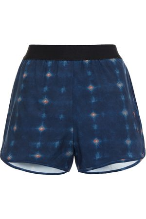 The Upside Woman Printed Stretch Shorts Navy Size 10