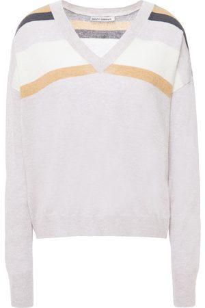 AUTUMN CASHMERE Woman Striped Cashmere Sweater Size L