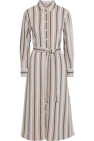 Chinti & Parker Women Casual Dresses - Woman Belted Striped Woven Midi Shirt Dress Size 10