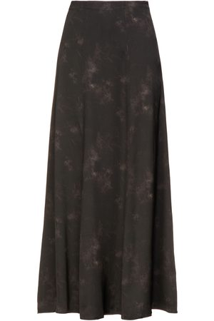 ANINE BING Woman Tie-dyed Silk-satin Maxi Skirt Size L