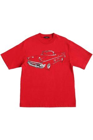 Nº21 Car Print Cotton Jersey T-shirt