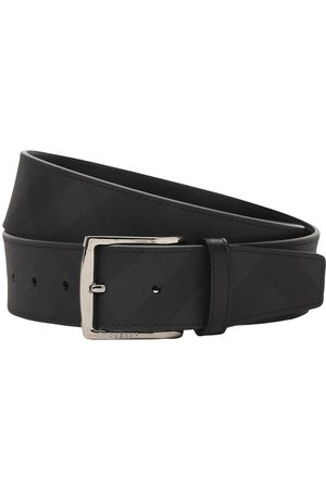 Burberry 4cm Tech Belt W/ London Check