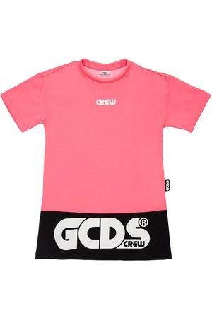 GCDS Logo Cotton Blend Jersey Dress