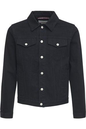 Alexander McQueen Logo Tape Cotton Denim Jacket