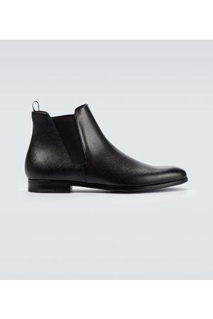 Prada Saffiano leather ankle boots