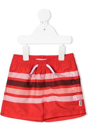 HUGO BOSS Striped drawstring swim shorts