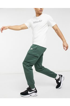 Nike Club cuffed cargo joggers in khaki