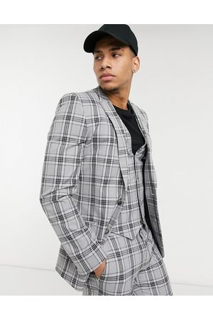 ASOS Super skinny suit jacket in tartan check
