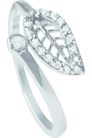 The Love Silver Collection The Love Leaf Cubic Zirconia Ring