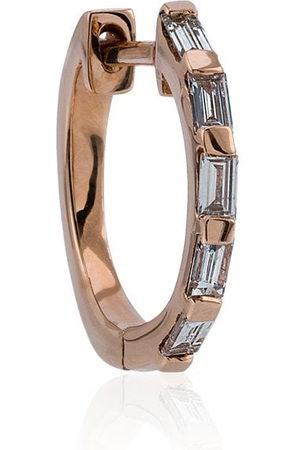 Shay 18kt rose gold diamond baguette hoop earrings - Metallic