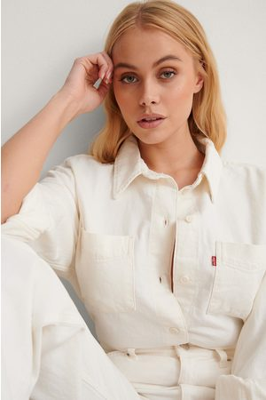 Levi's Women Shirts - Levi's Zoey Pleat Utility Shirt - White