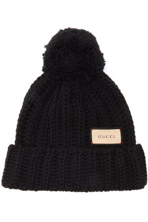 Gucci Logo-tag Wool Bobble Hat - Womens