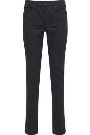 Saint Laurent 15cm Skinny Low Waist Cotton Denim Jeans