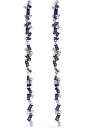 Suzanne Kalan Gold, Diamond and Sapphire Fireworks Drop Earrings
