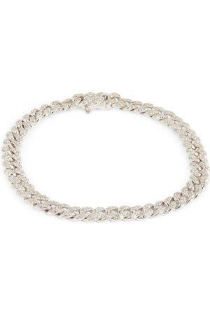 Shay White and Diamond Pavé Mini Links Bracelet