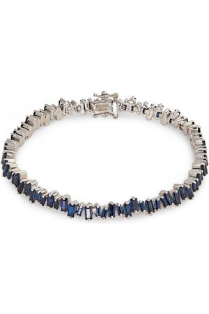 Suzanne Kalan Gold and Sapphire Fireworks Tennis Bracelet