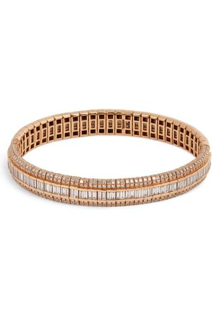 Shay Rose Gold and Diamond Helix Scales Bracelet