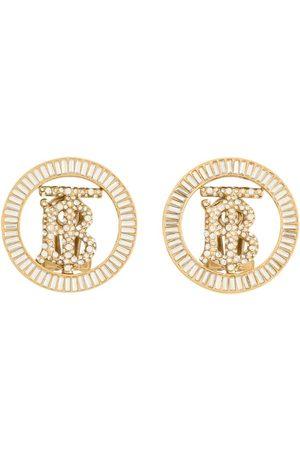 Burberry Crystal-detail Monogram motif earrings