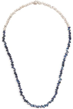 Suzanne Kalan Gold and Sapphire Fireworks Necklace