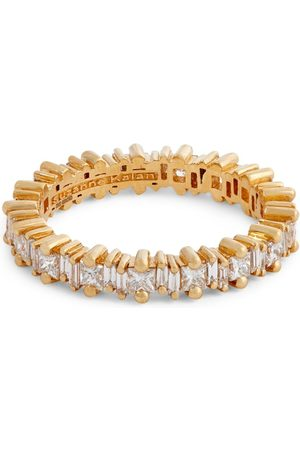 Suzanne Kalan Yellow and Diamond Fireworks Eternity Ring (Size 6.5)