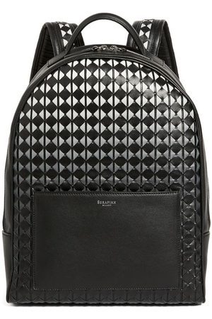 SERAPIAN Small Leather Mosaico Backpack