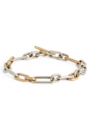 M. COHEN Yellow Gold and Sterling Silver Ovalado Link Bracelet
