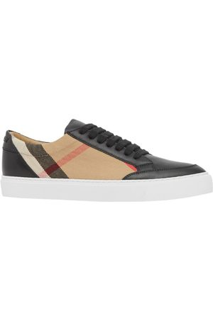 Burberry Check pattern low-top sneakers