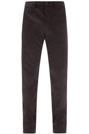 Saint Laurent Slim-leg Cotton-twill Chinos - Mens