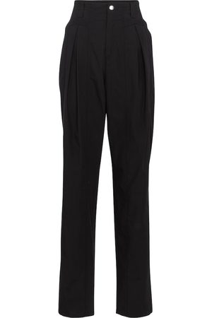 Isabel Marant Kilandy high-rise slim cotton pants