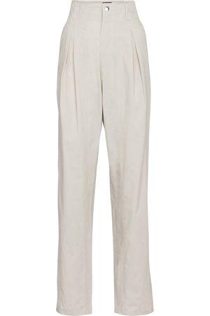 Isabel Marant Kilandy high-rise slim cotton pants
